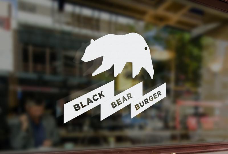 Modern Black Bear Burger Schlichte Logos 138695