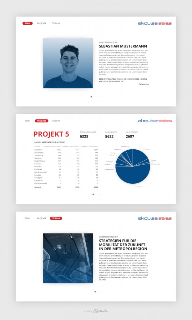 Akquise Sale Landing Page Design 652834