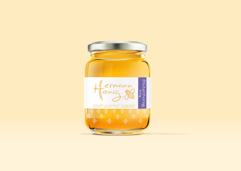Hermann Honig Honigglas Etiketten Design 491557 cernst