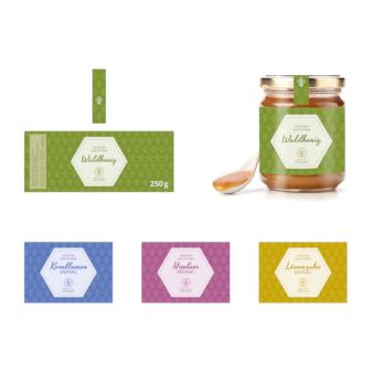 Honig Etiketten Design Imkerei Sievers 478514 intus