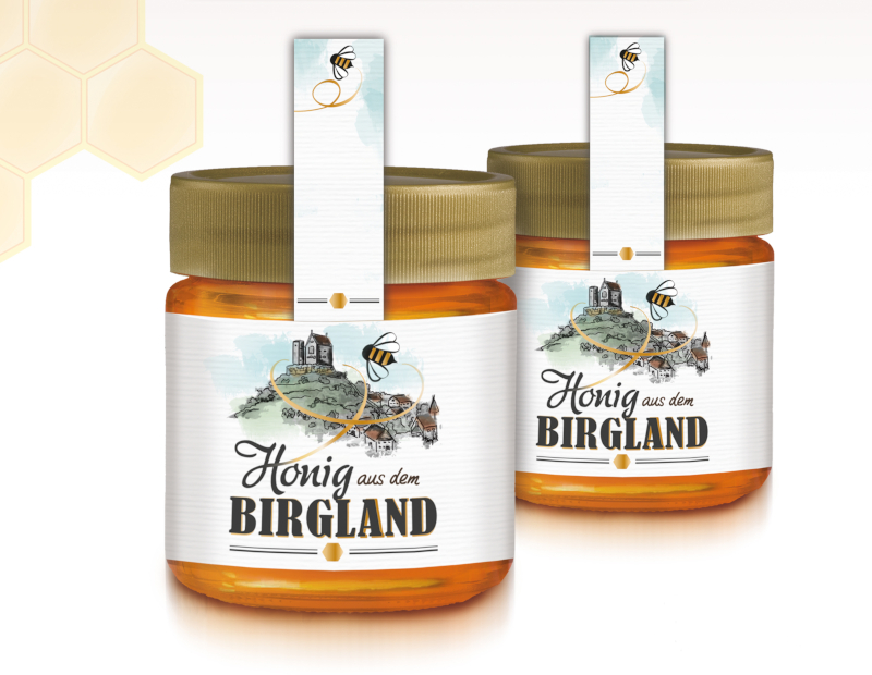 Honig aus dem Birgland Etiketten Design Honig 712989 kdd design