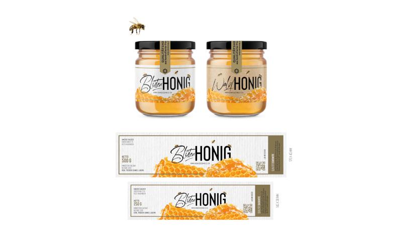 Honigschweiz Honig Etiketten Design 513589 alpindesign