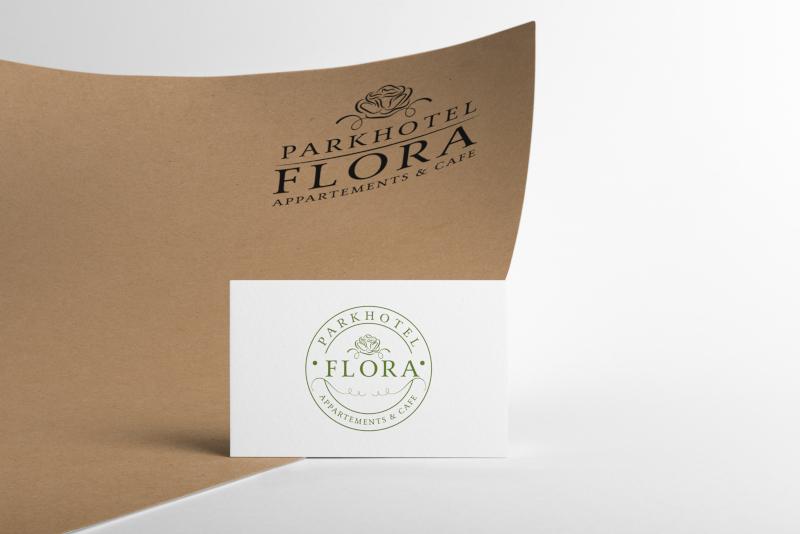 Parkhotel Flora Hotel Logo Design