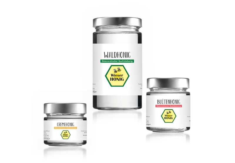 Waldhonig Wieser Honig Honigglas Etikett 861567 printworks