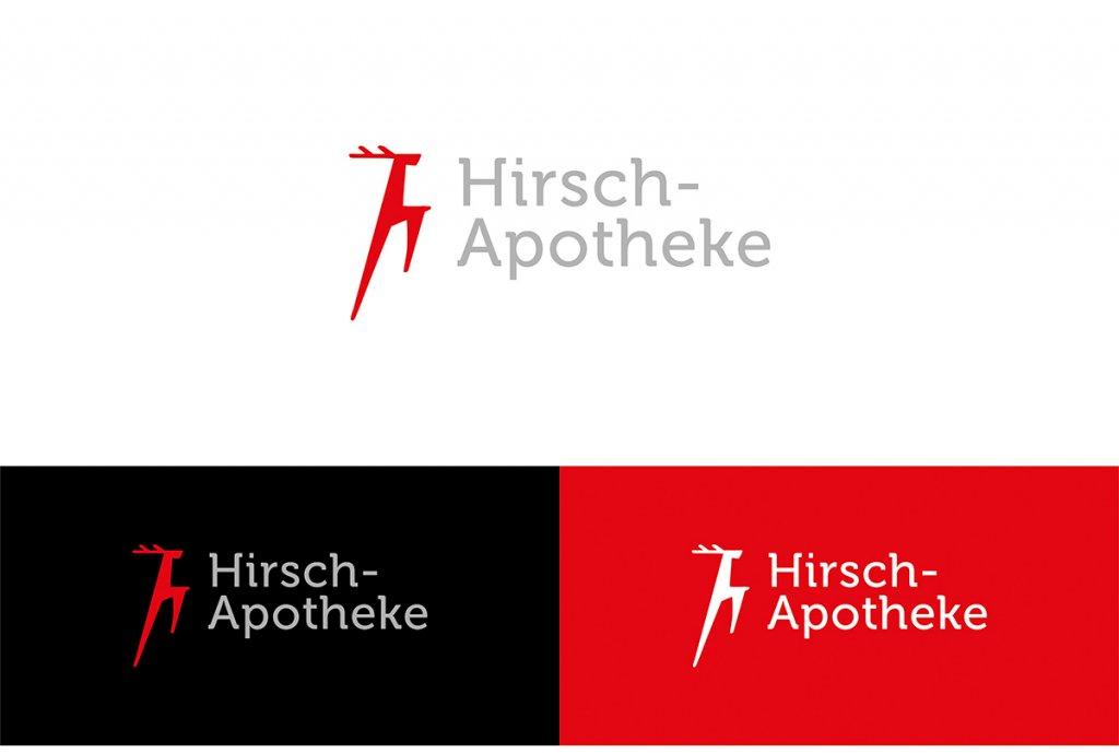 Apotheken-Logo für die Hirsch-Apotheke