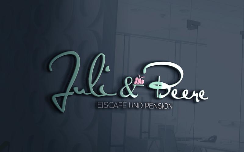 Eis-Logo Eisdiele Juli & Beere
