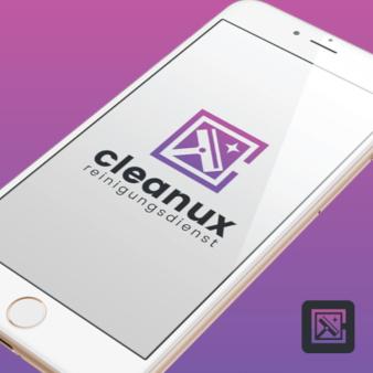 Reinigungsdienst Logo Cleanux 129246 Spot Design