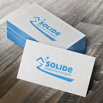 Solide Dienstleistungen Gebäudereinigung Logo Reinigung
