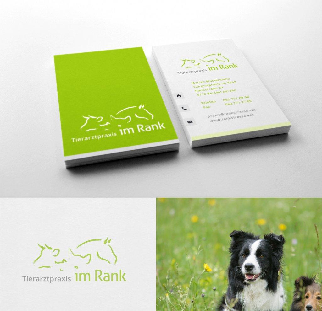 Logo tierärztliche Praxis im Rank