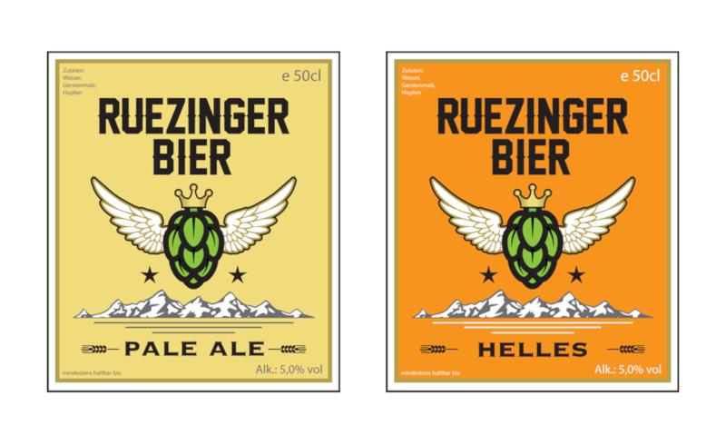 Bieretiketten Design Ruezinger Bier 611443