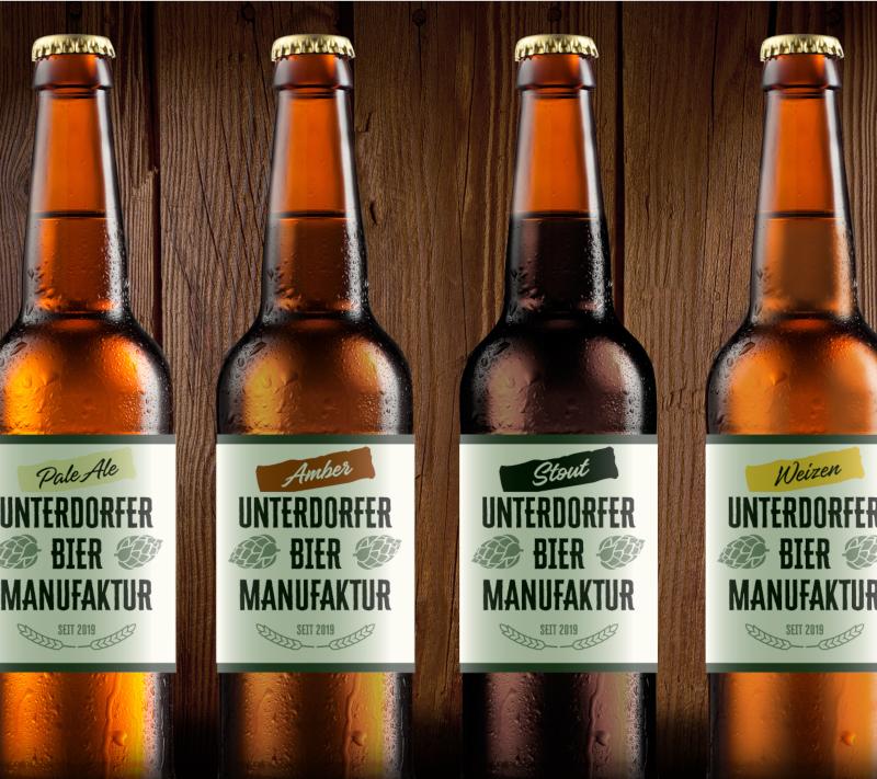 Bieretiketten Design Unterdorfer Bier Manufaktur 753127