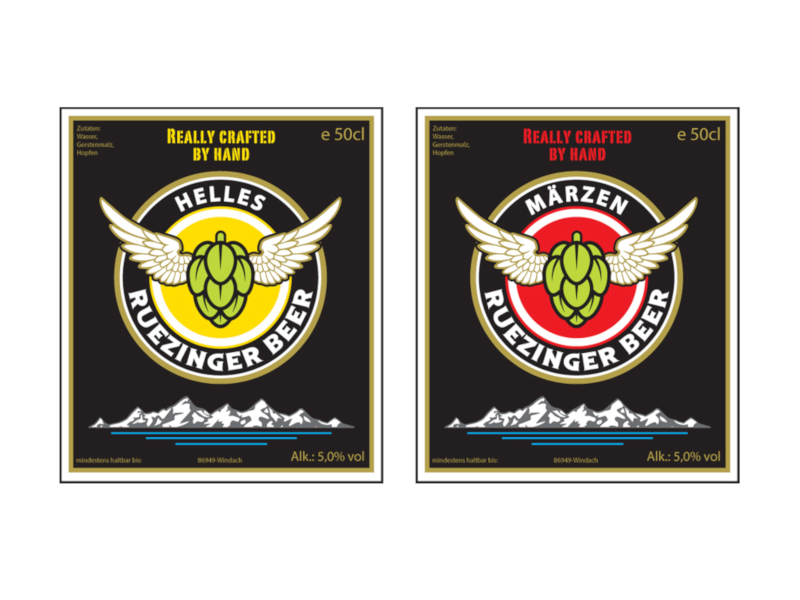 Bieretiketten gestalten Ruezinger Beer 611443