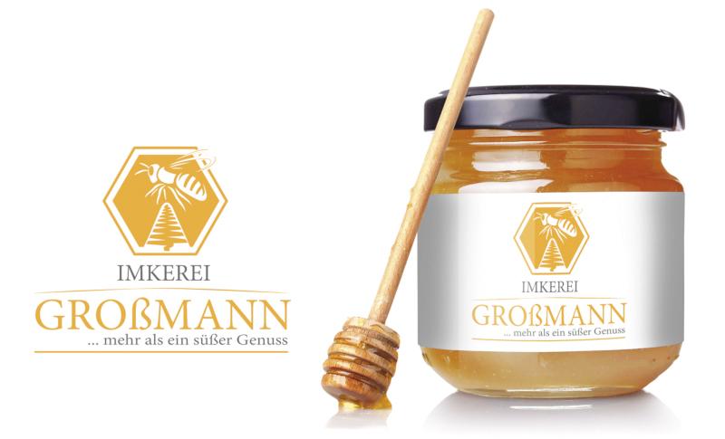 Imkerei-Großmann-Imker-Logo-Desingner