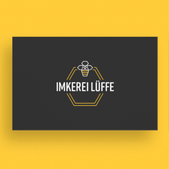 Imkerei Lüffe Logo Design Imker
