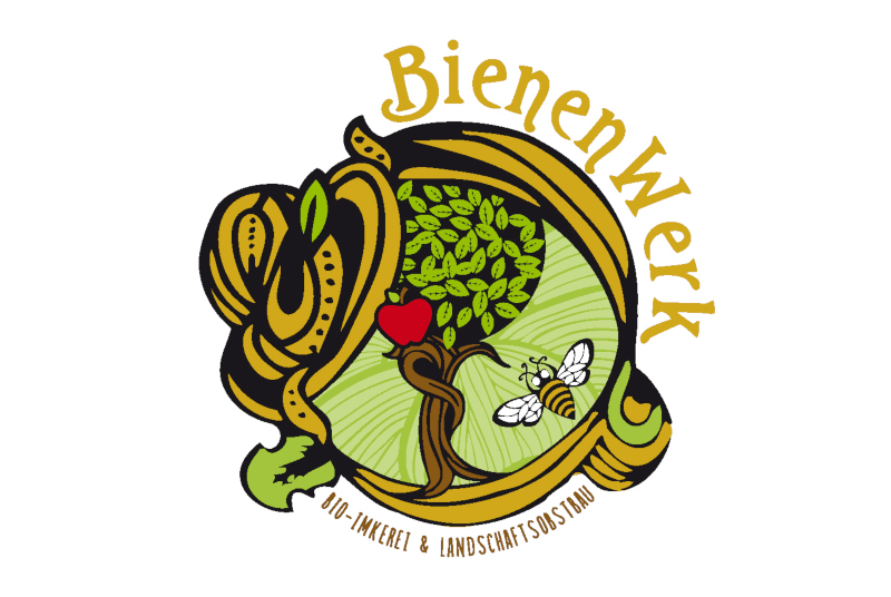 Imkerei-Logo-Bienenwerk