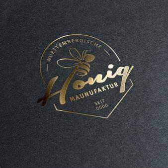 Imkerei-Logo-Honig-Manufaktur