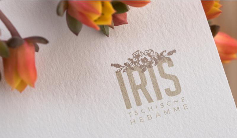 Iris-Tschische-Hebamme-Logo-Design