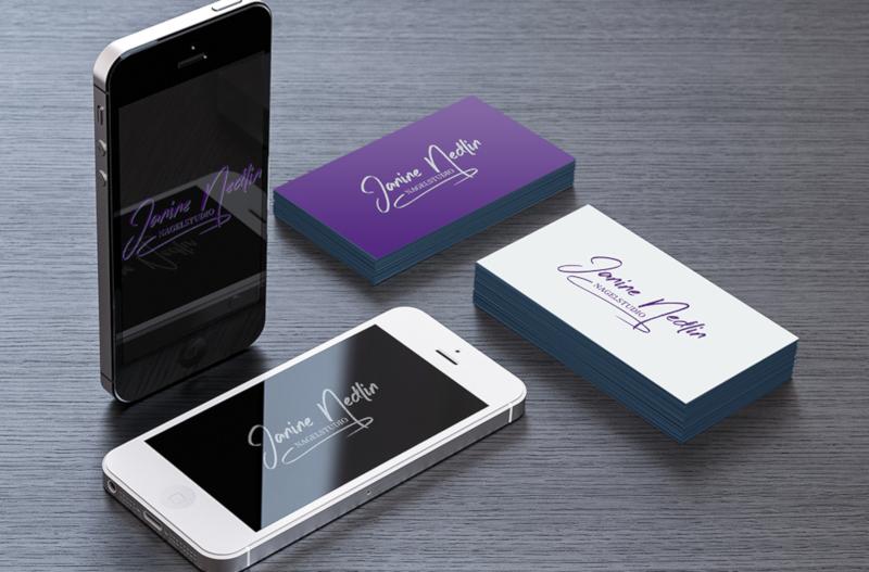 Janine Nedlin Lila Logo Design