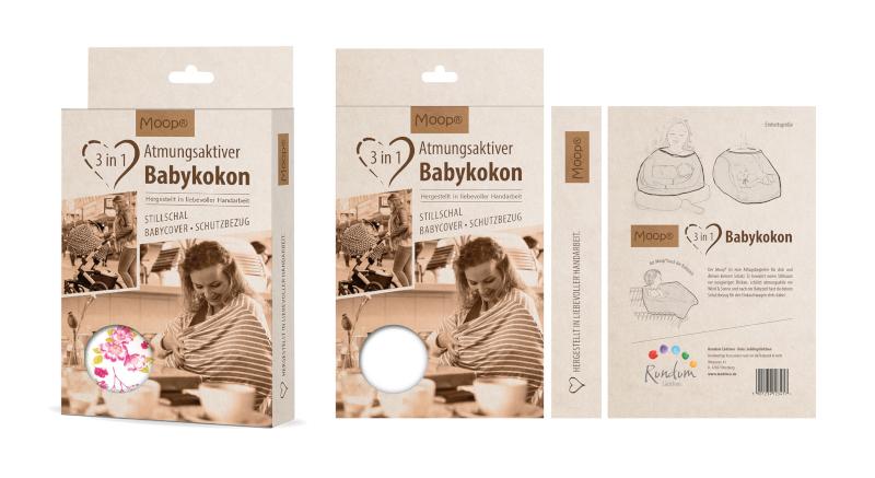 Moop Babykokon Design Produktverpackung