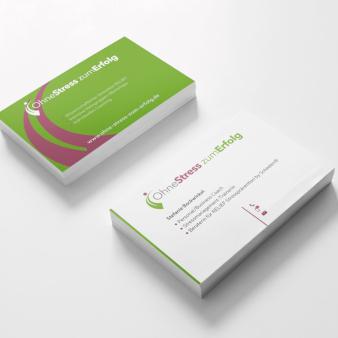 Ohne Stress zum Erfolg Visitenkarten Design Beispiele