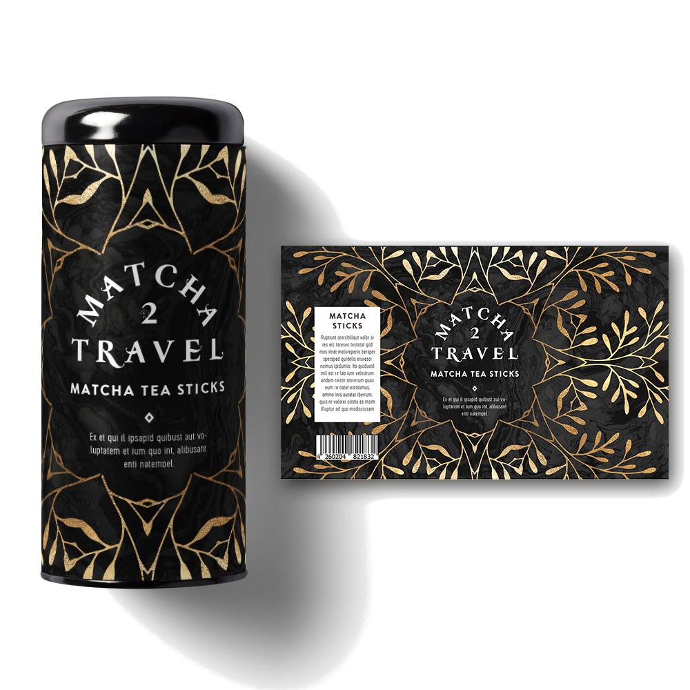 Produktverpackung Einzigartigkeit Matcha Tee