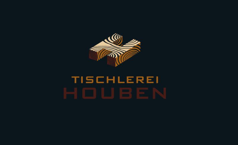 Tischler Logo geometrisch Tischlerei Houben