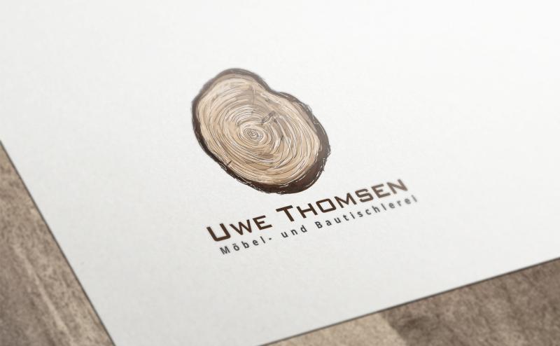 Tischler Logo mit Holz Uwe Thomsen