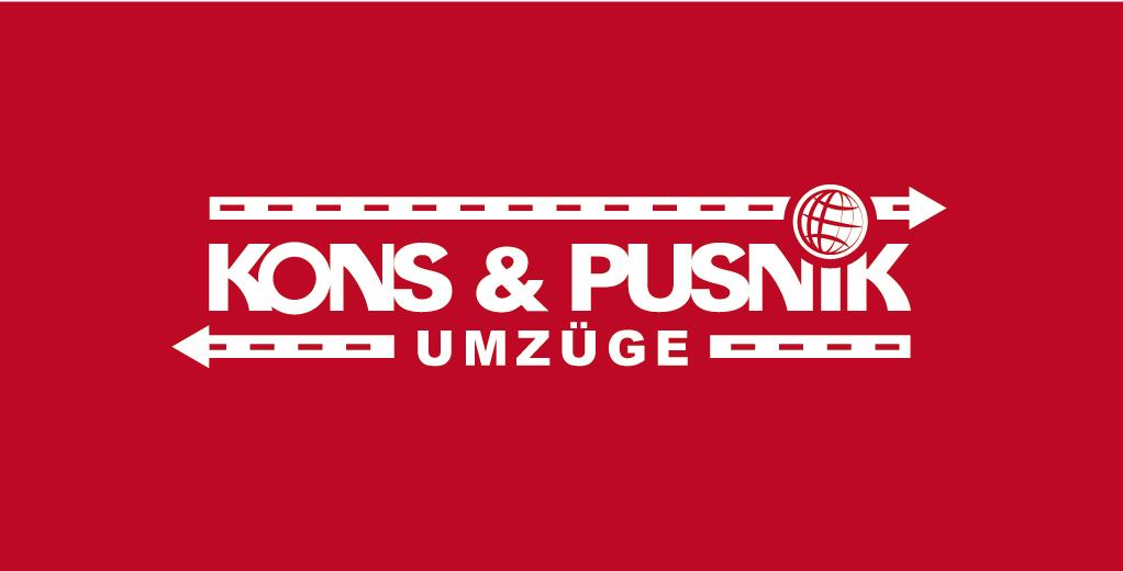Umzugs-Logo für Kons und Pusnik Umzüge