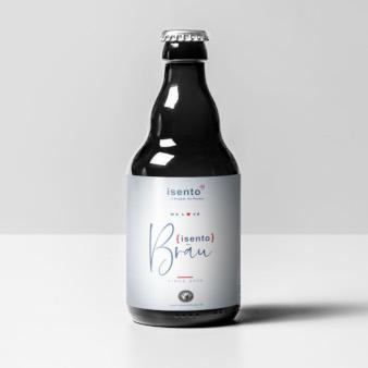 etiketten bierflaschen isento Bräu 511511