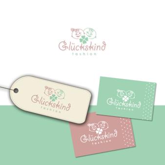 Glückskind Fashion Einzigartiges Boutique Logo