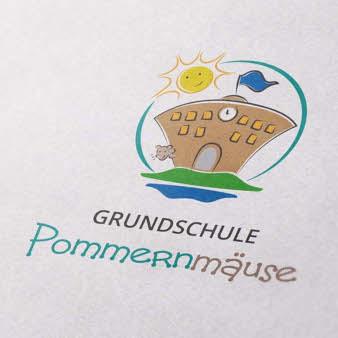 Grunschule Schullogo Pommernmäuse