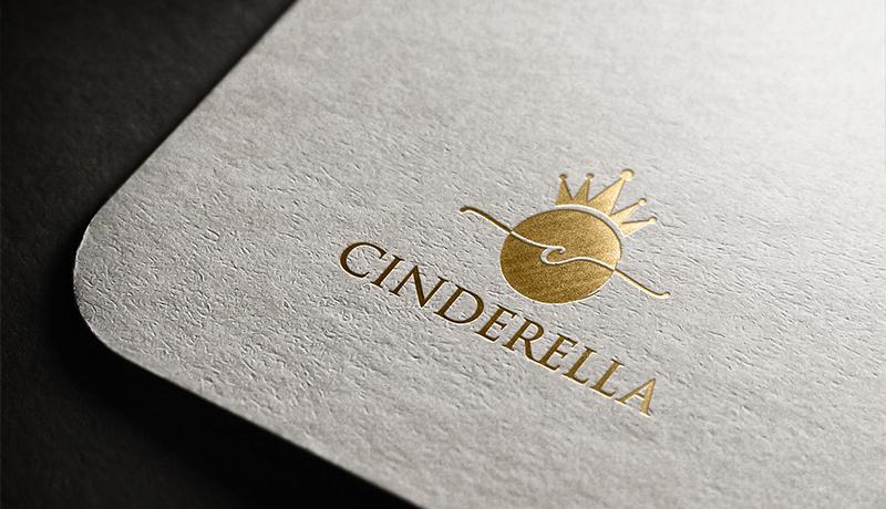 Logo Boutique Cinderella Gold Elemente