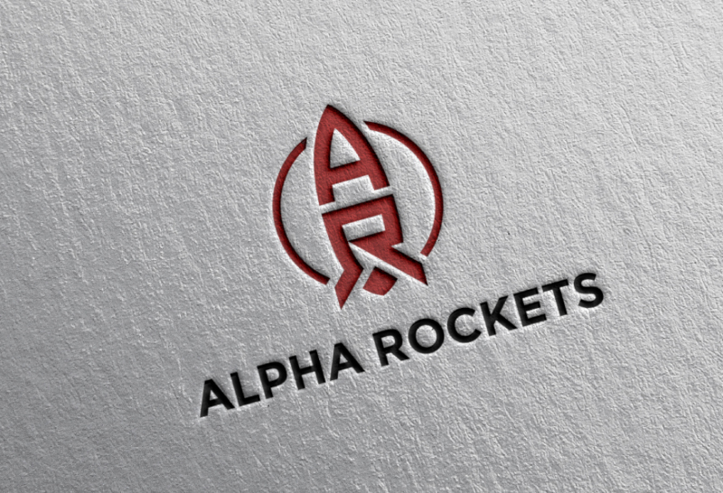 Alpha-Rockets-Logo-Design-Flat