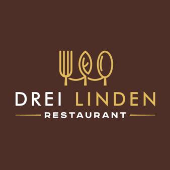 Drei-Linden-Restaurant-Flat-Logo-Design