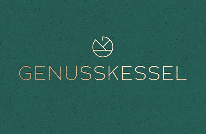Genusskessel-Flat-Logo-Design