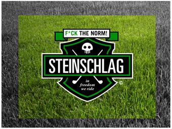Golf Logo, Steinschlag