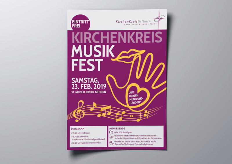 Kirchenkreis-Musik-Fest-Plakat-Design