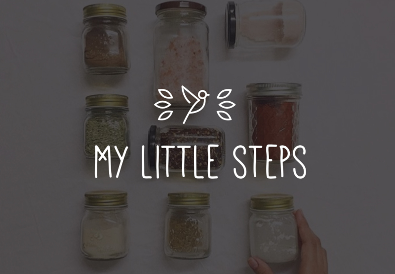 My Little Steps Flat Design Logo