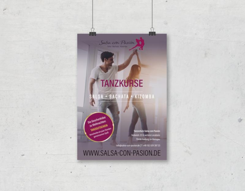 Salsa-Tanzkurse-Plakat-Design