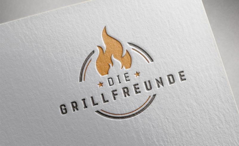 Die-Grillfreunde-Feuer-Logo-Design