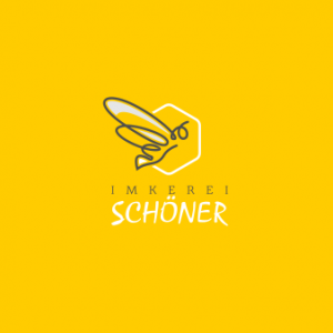 Imkerei-Schöner-Logo-Design-in-Gelb
