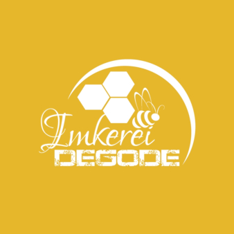 Logo-in-Gelb-Imkerei-Degode