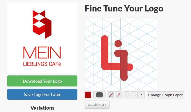 Zeichenfläche Logoshi Logo Maker