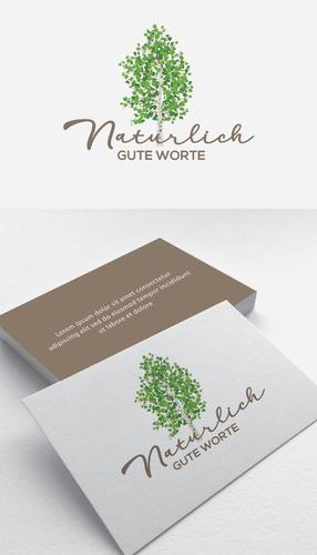 Natürlich gute Worte Logo und Visitenkarte