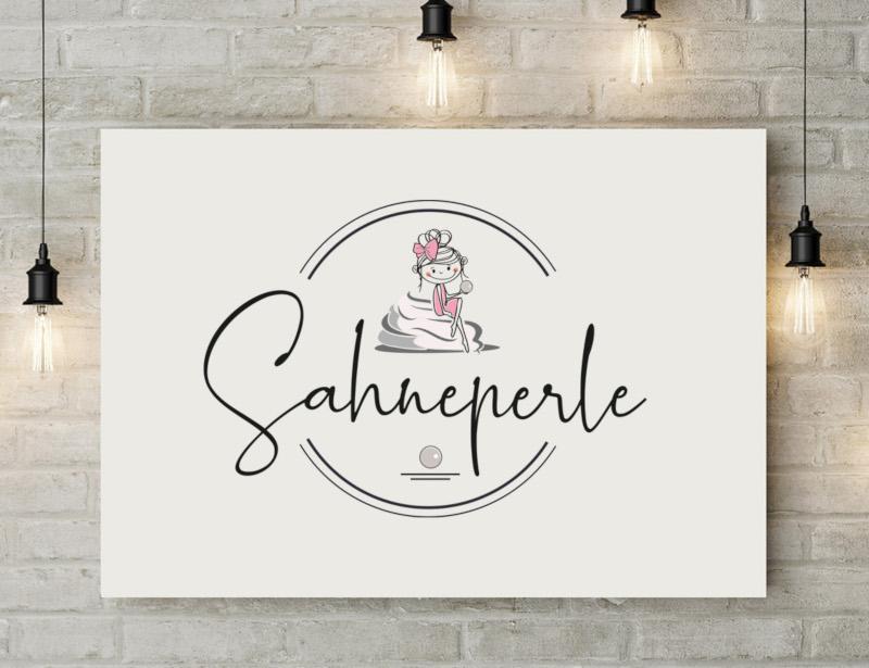 Gehobenes-Cafe-Sahneperle-Logo-Design-cool