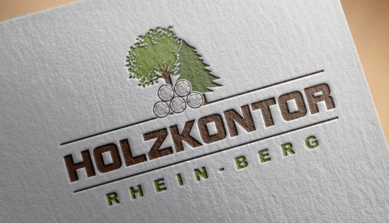 Holzkontor-Forstbetrieb-Baum-Logo-Design