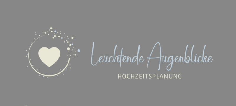 Leuchtende Augenblicke Hochzeitsplanung Cooles Logo