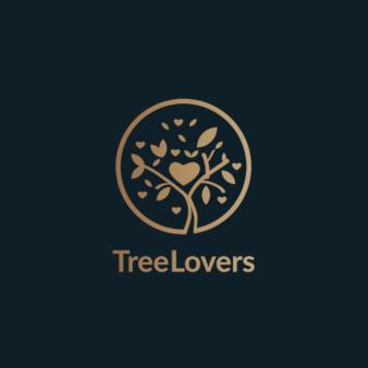 Tree-Lovers-Logo-Design-mit-Baum