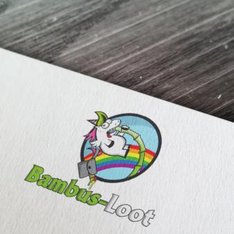 Regenbogen Logo Design Bambus Loot