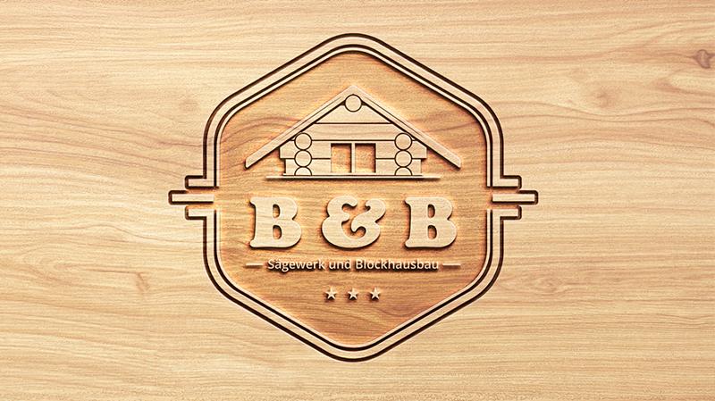 Haus Logo, B & B Sägewerk und Blockhausbau
